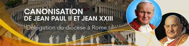 Canonisation de Jean Paul II et Jean XXII - Délégation du diocèse à Rome